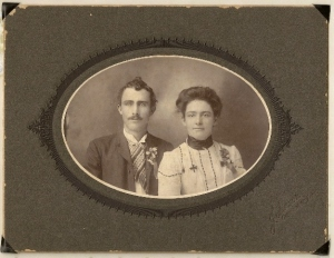 Aaron Lee Vining & Carrie Carson Vining's wedding photo - 1904 - oldest son of James Jr.