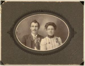 Aaron Lee Vining & Carrie Carson Vining's wedding photo - 1904 - oldest son of James Jr.