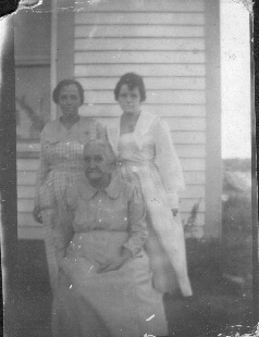 Lucy Vining Bolte, Mrs. Nancy J. Vining, and Ruth Vining  (photo from WWI sent to Nancy's son Albert Vining in France)