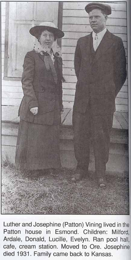 Luther Vining and his wife, Josephine (Patton)