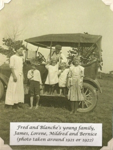 Fred and Blanche's young family