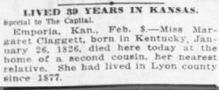 death of Margaret Claggett