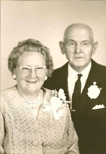 Here's Sarah and Bob Martin celebrating their 50th anniversary in 1966.   (photo from the collection of Linda Martin Haney)