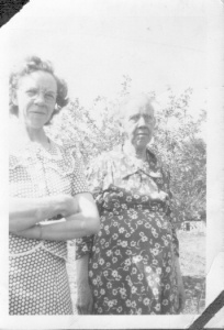 Bertha McGhee and her mother, Viola Matilda McGhee