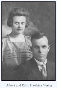 albert and edith flossie hawkins vining