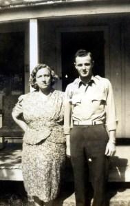 Vina Tower Vining and nephew Donald Vining 1944