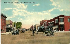 1920s 8th and main street woodward OK from Facebook