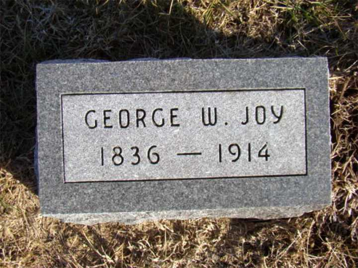 george washington joy grave