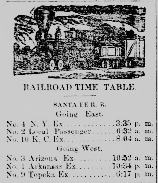 rr schedule eudora ks 1890