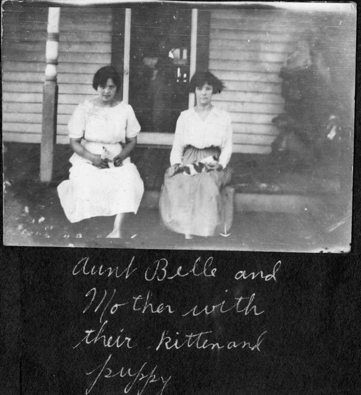 ruth on left and sister belle vining