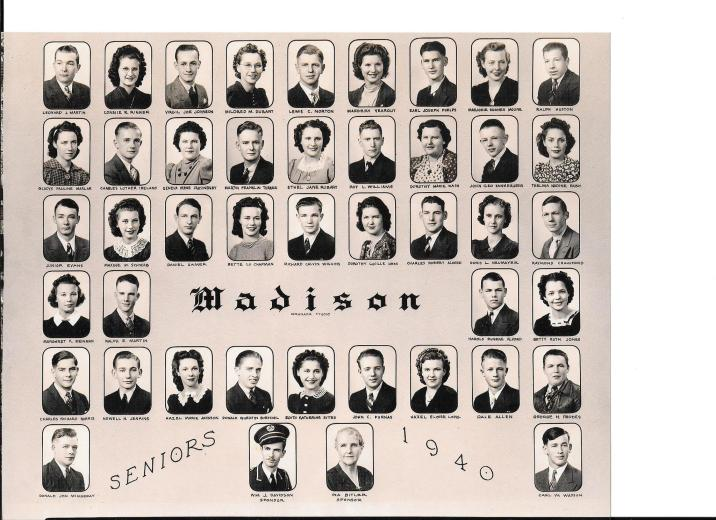 The Madison graduating class of 1940