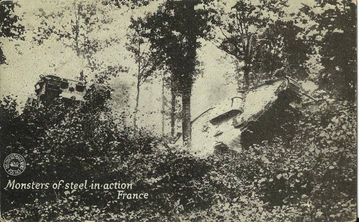 clarence mcghee WWI postcard tanks in France