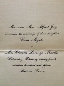 cora and ren wedding invite