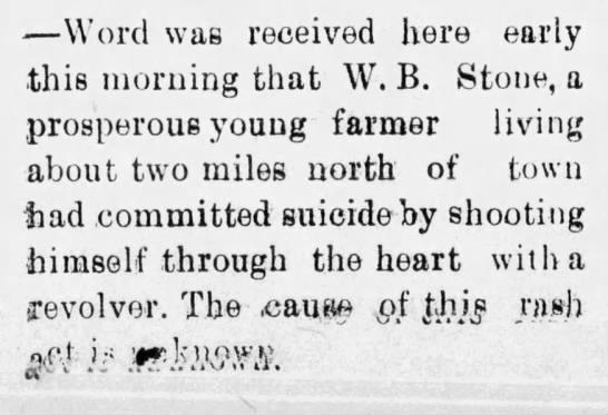 stone suicide
