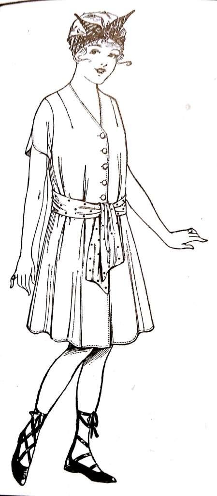 1917 Dressmaking Book_24 swim suit