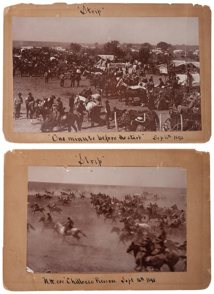 Cherokee_Strip_Land_Rush,_1893 public domain