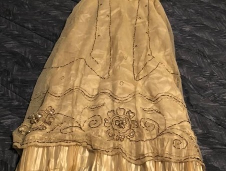 Lorna's antique dress - overskirt