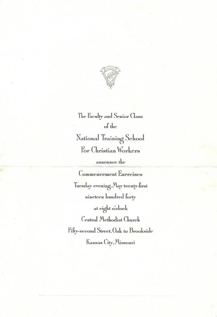 NTS graduation bertha 1940