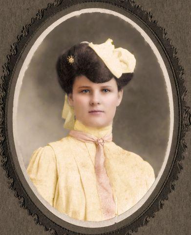 Colorized portrait - Bessie Vining Bolte