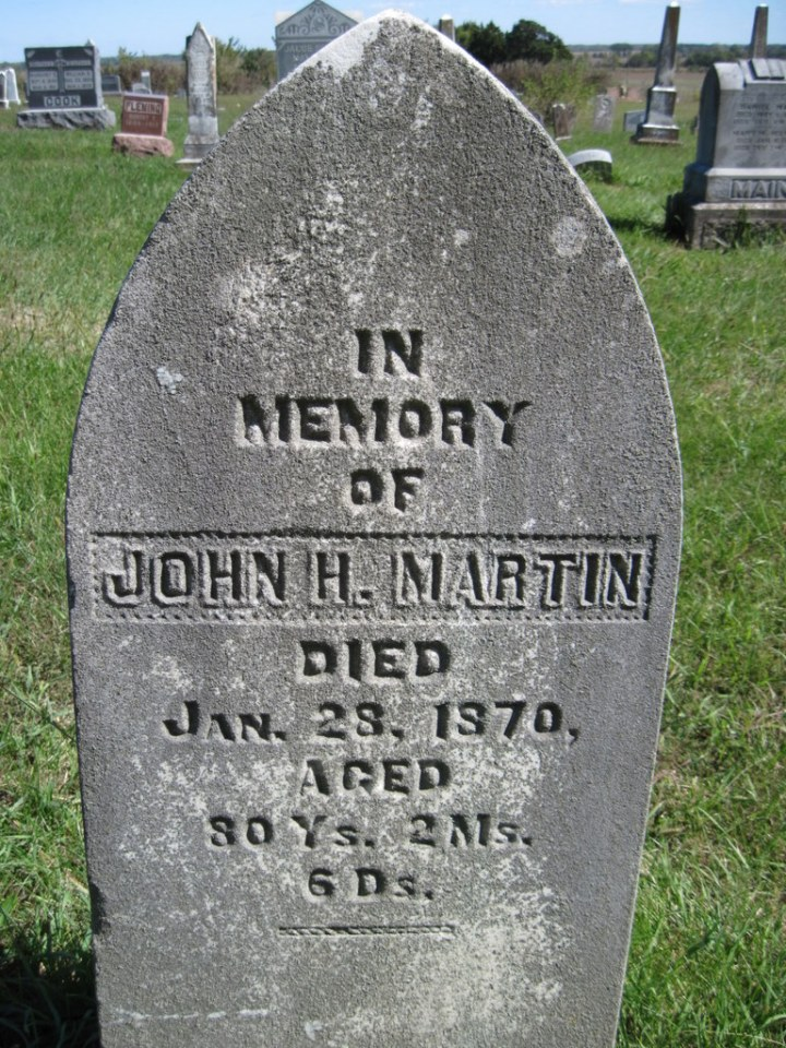 John H Martin grave photo by Joe Gibbons